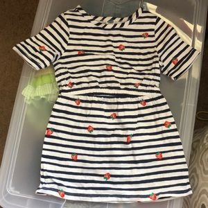 Striped strawberry dress